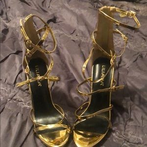 Shoes - Gold Party Heels